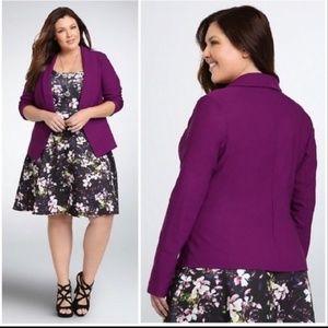 TORRID 2X purple open front stretch career blazer